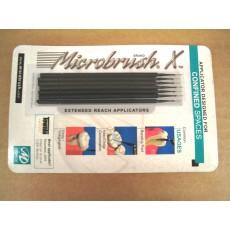 Microbrush X, 6 aplikačních černých kartáčků, extra tenké