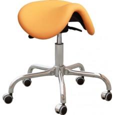 Kovová židle Cline F, sedačka otočná, podnož F, chrom, čalounění, barva 14 žlutá