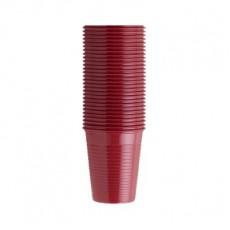 EURONDA kelímky červené 200 ml, 100 ks