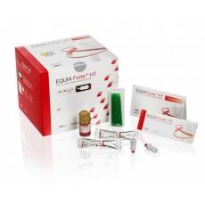 GC EQUIA Forte HT, Clinic Pack, A2 (200 kapslí,1x  Equia Forte Coat,25x aplikační štětečky)