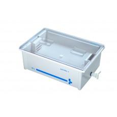Vana pro dezinfekci nástrojů - 30 l transparentní víko s výpustným kohoutem